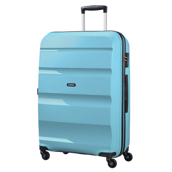 American Tourister Bon Air Large Suitcase Spinner Wheels Hard Case Zip BLUE
