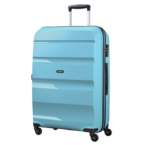 American Tourister Bon Air Medium Suitcase Spinner Wheels Hard Case Zip BLUE