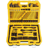 DEWALT 181 Piece Mechanics Tool Set Handtools Garage Workshop Case Box Organizer