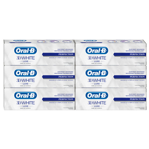 Experienced Oral-B 3D White Luxe Perfection Toothpaste, 6 X 75ml