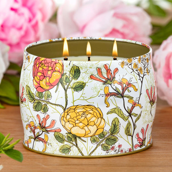 Simply Indulgent Fragranced 3 Wick Soy Candle Honeysuckle Bloom & Summer Berry Splash
