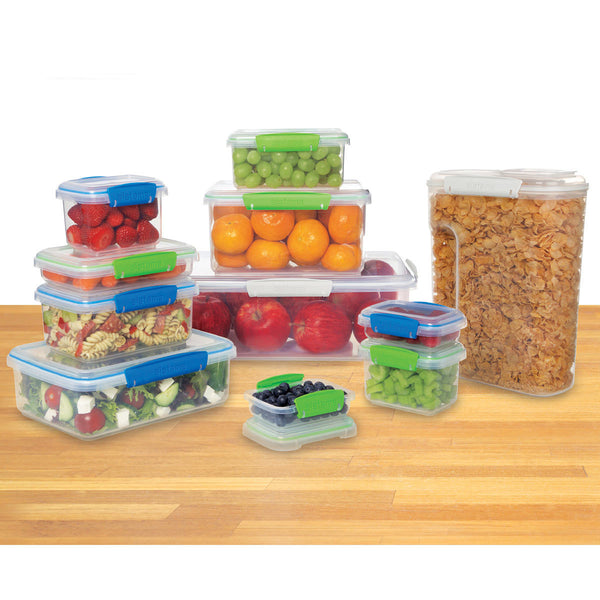 11 Pcs Sistema Long-Lasting Durable Food Storage Containers With Lids
