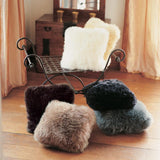 Handcrafted Bowron Sheepskin Wool Double Sided Cushion 35 X 35cm in 4 Colours