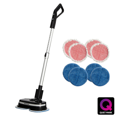 Power Glide Cordless Hard Floor Cleaner & Polisher Black + Extra Set of Pads