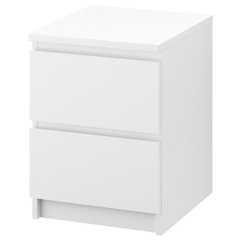 New IKEA MALM Chest Of 2 Drawers 40 x 55 cm Wide Quality Bedside Table