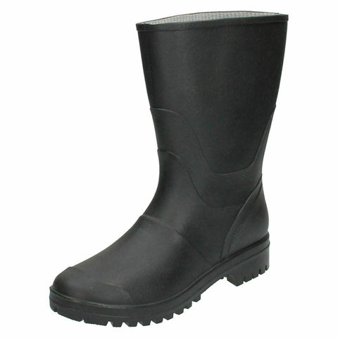 Mens Waterproof Rubber Wellingtons Black Wellies Dog Walk Boots Shoes 6-11
