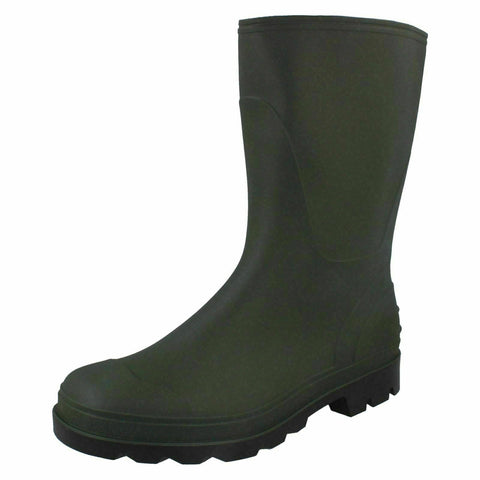 Mens Waterproof Rubber Wellingtons Green Wellies Dog Walk Boots Shoes 6-11