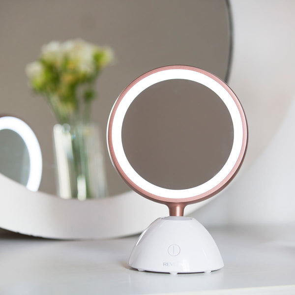 Cordless USB Rechargeable Revlon Ultimate Glow Two Sided Beauty LED Mirror