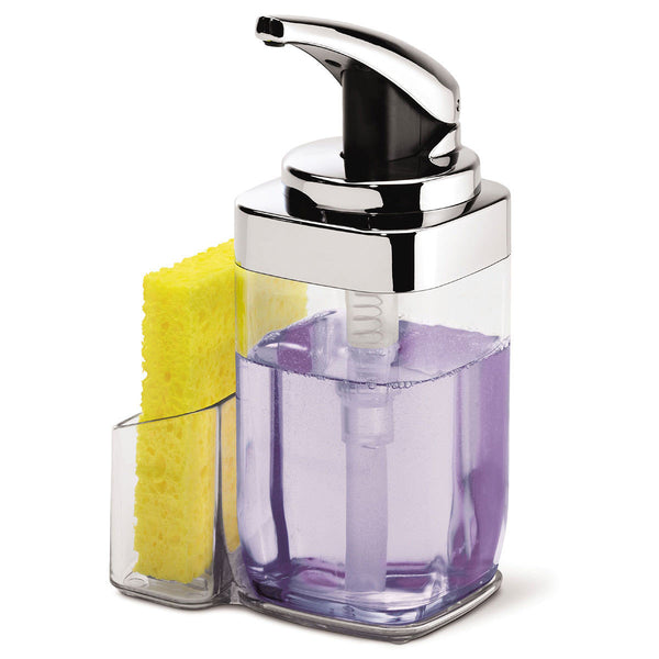 Bathroom Accessories One Hand Push Pump Soap with Lift Off Caddy Dispenser 650ml