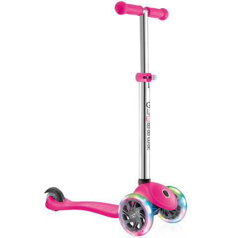 Pink LED Light Up Scooter Adjustable Height T-Bar for Kids (3+ Years)