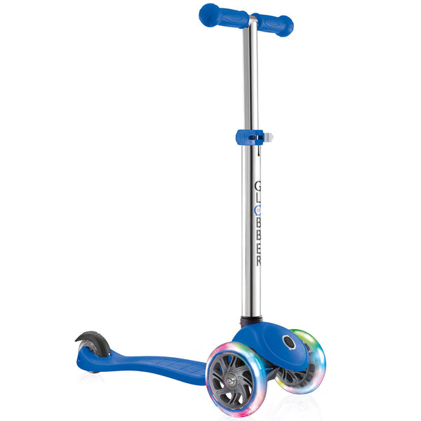 Blue LED Light Up Scooter Adjustable Height T-Bar for Kids (3+ Years)