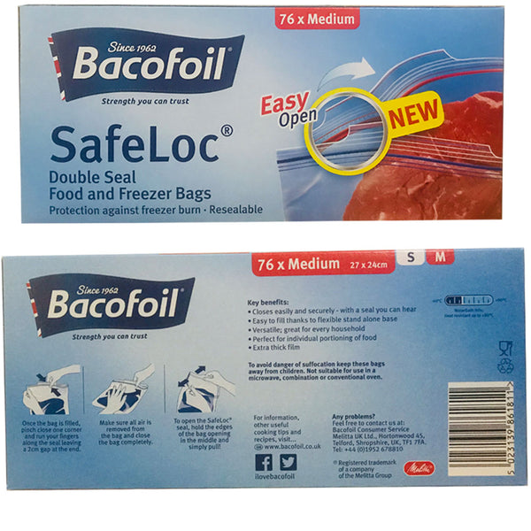 Bacofoil Safeloc Food and Freezer Bags