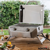Nexgrill 2 Burner BBQ Stainless Steel Table Top Gas Barbecue