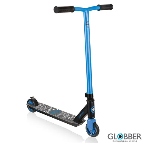Blue Steel Frame T-Bar Handle Stunt Scooter GS 360 for Beginners 8+ Years