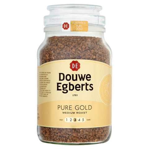 Pure Gold Finest Quality Instant Coffee Granules, 400g (222 Cups)