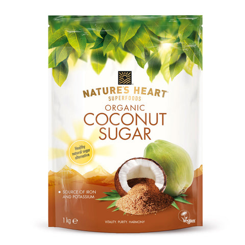 Nature's Heart 100% Organic Raw Natural Coconut Sugar Terrafertil
