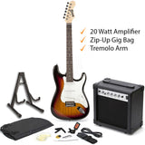 RockJam Electric Guitar Bundle With 20 Watt Amplifier & Chromatic Tuner