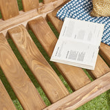 Durable Natural Pine Wood Garden Patio 3 Seater Slatted Back Bench
