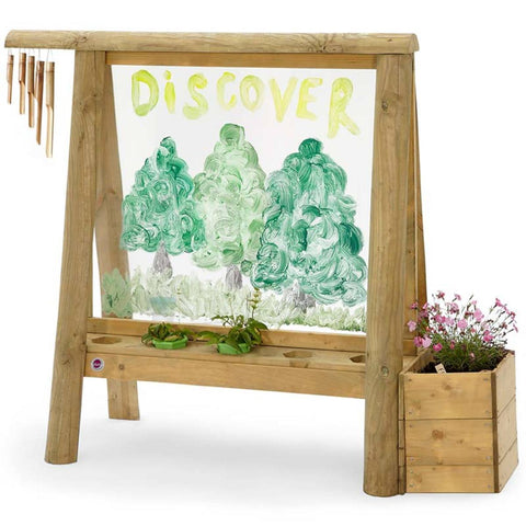 Kids Wooden Garden Create And Paint Outdoor Discovery Easel Children 3 Year