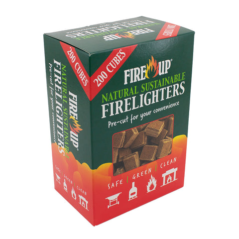 200 cubes Natural Sustainable Fire Lighters Fire Up BBQ Lighters Safe