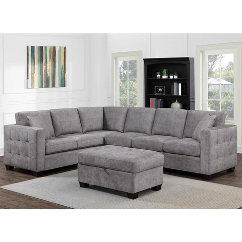 Corner Sofa Comfortable in Grey