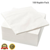 IKEA 3-Ply White Paper Napkins Serviettes Disposable Party 100 Tissue Packs