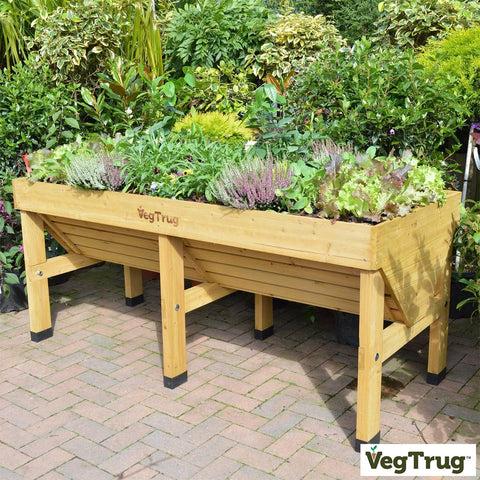 VegTrug Medium 1.8m Planter + Greenhouse Frame with Free Cover