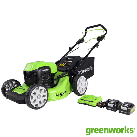 Greenworks 48V Cordless 46cm Self Propelled Lawn Mower with Brushless Motor