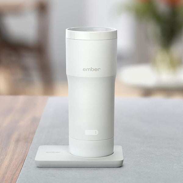 Smart Temperature Controlled Ceramic, White, Large Mug with Matte Finish