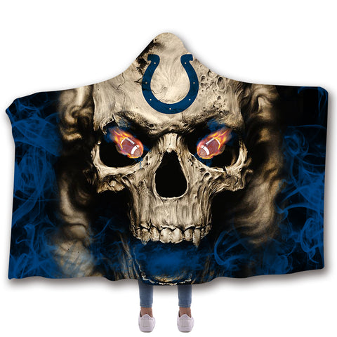 INDIANAPOLIS COLTS CLASSIC 3D HOODED BLANKET