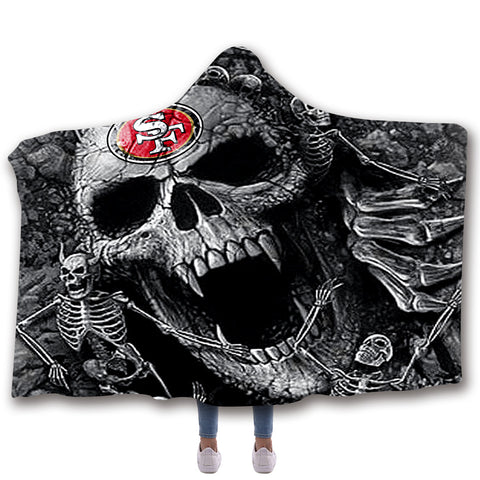 SAN FRANCISCO 49ERS CLASSIC 3D HOODED BLANKET