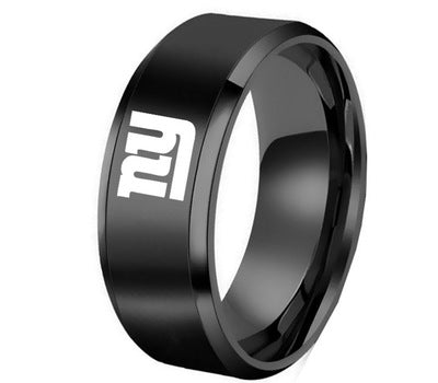 LIMITED EDITION  NEW YORK GIANTS    TITANIUM STEEL RING