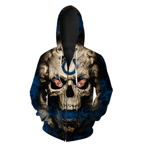 INDIANAPOLIS COLTS MEN'S CLASSIC 3D ZIP HOODIE