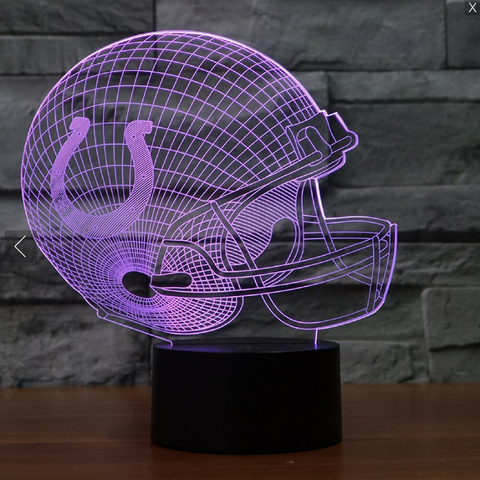 INDIANAPOLIS COLTS 3D LED LIGHT LAMP