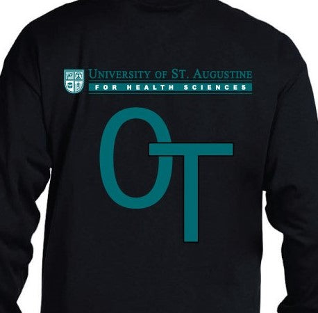 OT Black Long-Sleeve Gildan Ultra Cotton T-Shirt