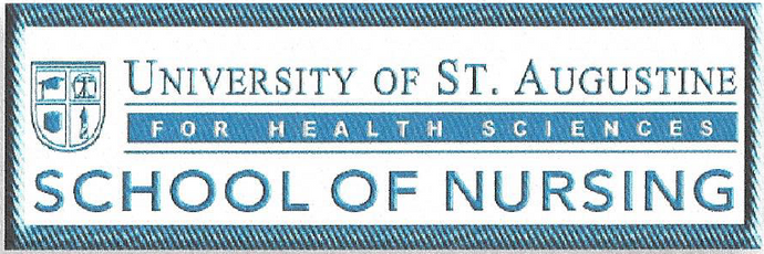 USAHS Logo - Iron-On/ Sew-On Lab Jacket Patch for School of Nursing