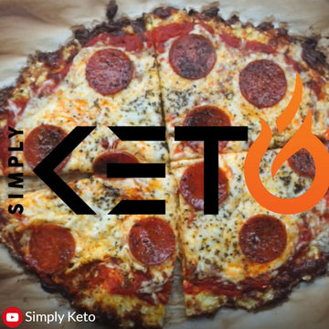 Great Keto Pizza made with a Cauliflower Crust