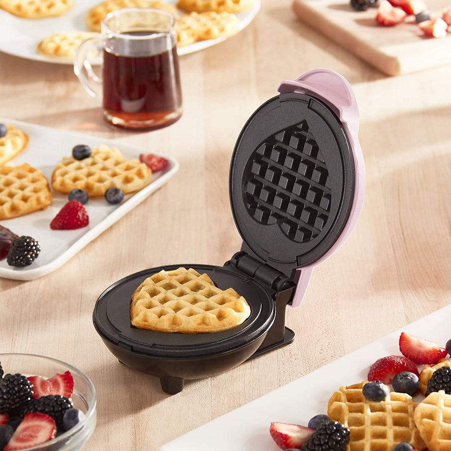 Waffle Maker: Mini Heart-Shaped