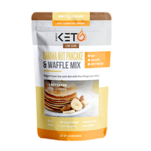 Banana Nut Pancake & Waffle Mix: Low Carb & Keto Friendly