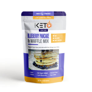Blueberry Pancake & Waffle Mix: Low Carb & Keto Friendly