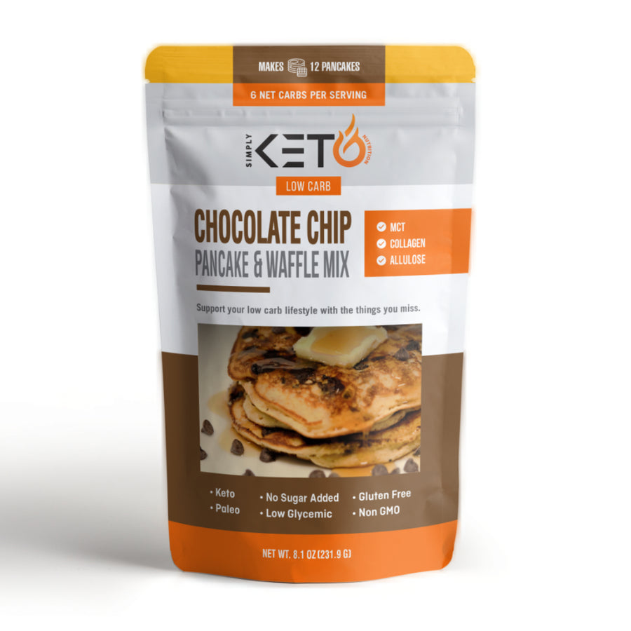 Chocolate Chip Pancake & Waffle Mix: Low Carb And Keto Friendly