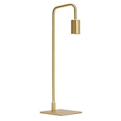 Brass Modern Table Lamp Light - Dimmable & Bulb Included