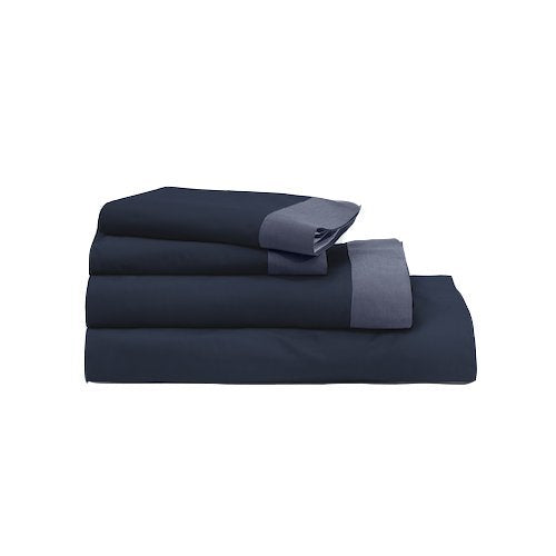 Casper Sleep Soft and Durable Supima Cotton Sheet Set, Twin XL, Navy/Azure