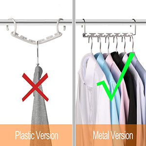 Cascading Space Saving Hangers, Closet Organizer - 4 Pack