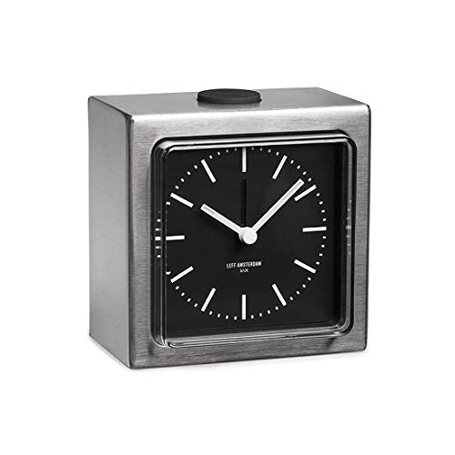 LEFF Analog Alarm Clock Block - Stainless Steel
