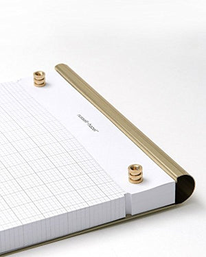 Brass Drafters Tablet / Notepad - 100 Perforated Gridded Drafting Sheets