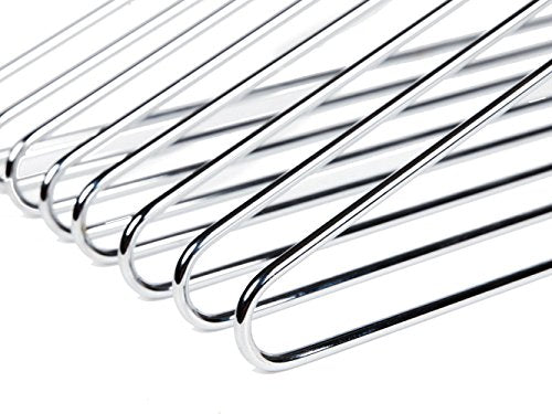 Heavy Duty Metal Hangers, Coat Hangers, Polished Chrome, 16-Pack