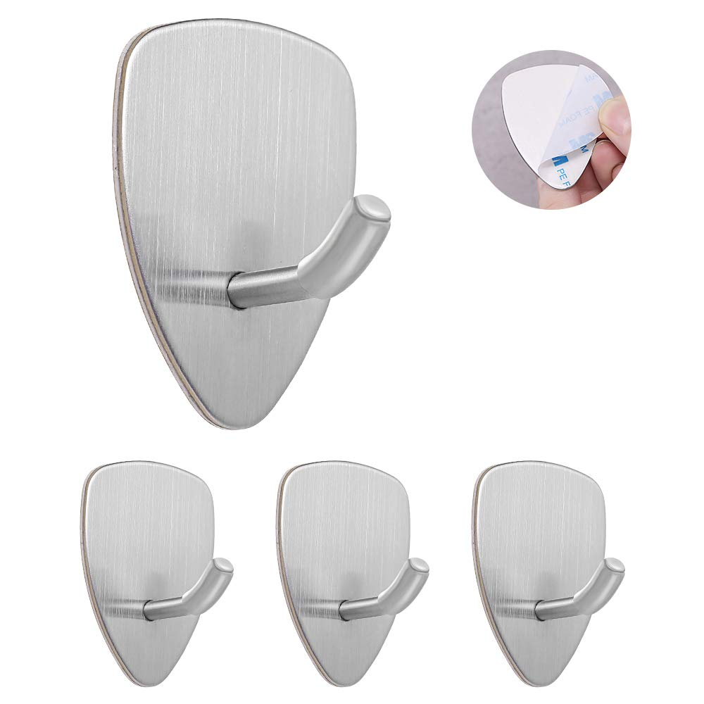 Self Adhesive, Waterproof Hooks - 4 Pack