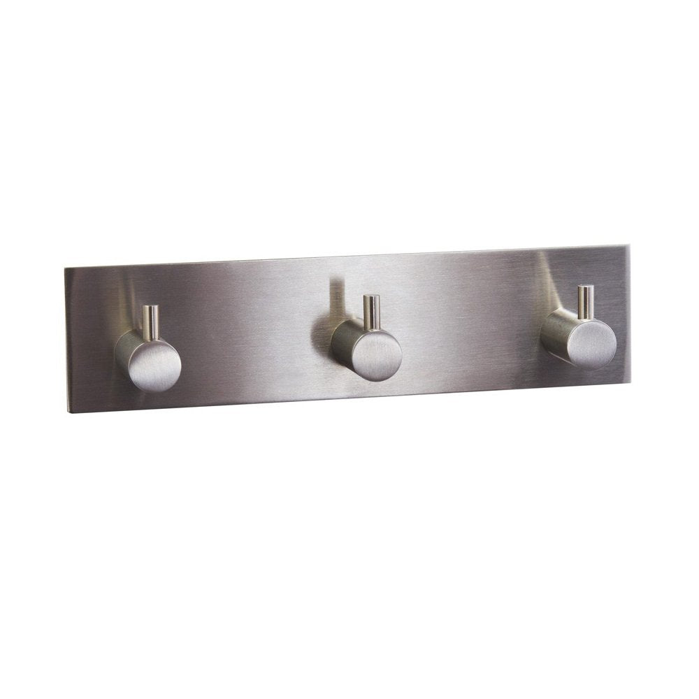 KES Self Adhesive Coat and Robe Hook Rack/Rail with 3 Hooks