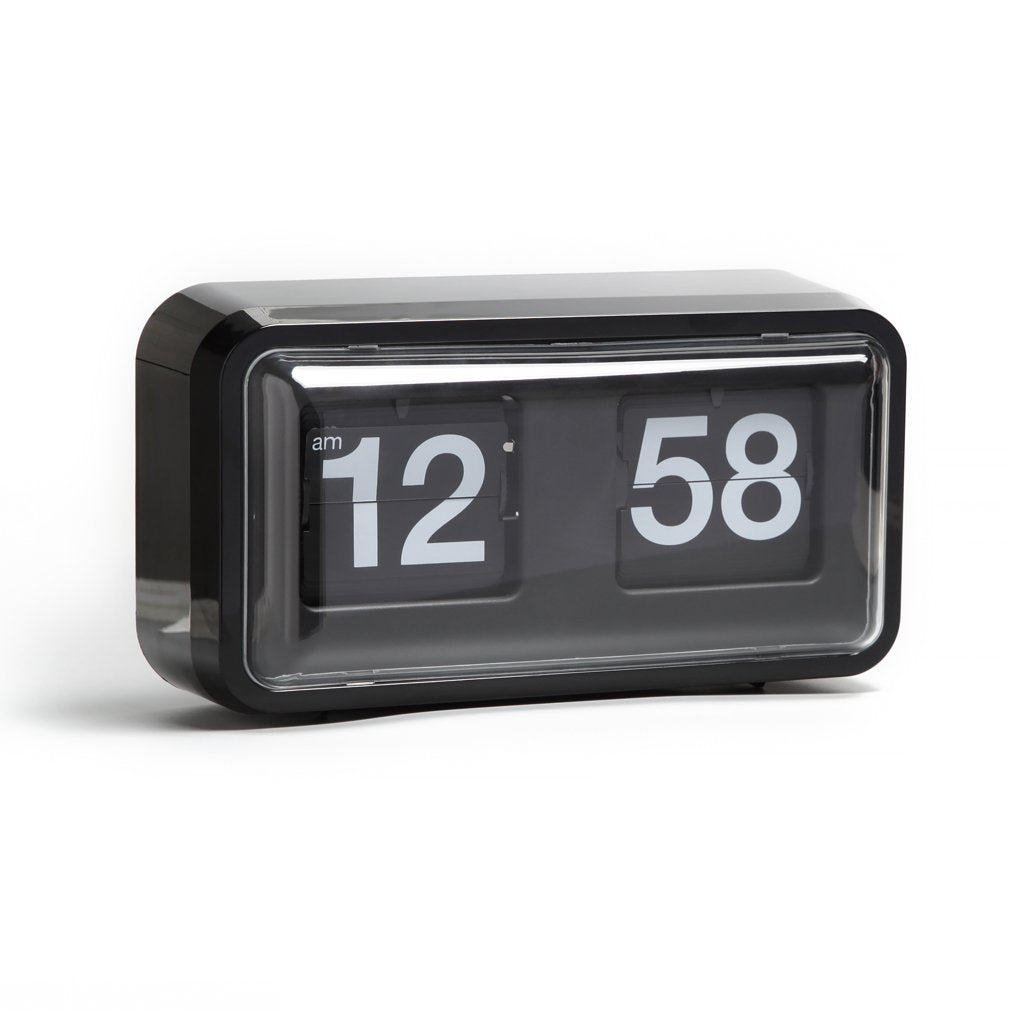 Auto Flip Clock Box 10.5 x 6 x 3.2 inches - Black